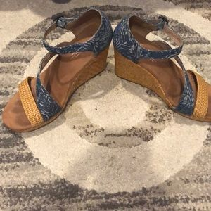 TOMS SHOES | Toms Blue wedged